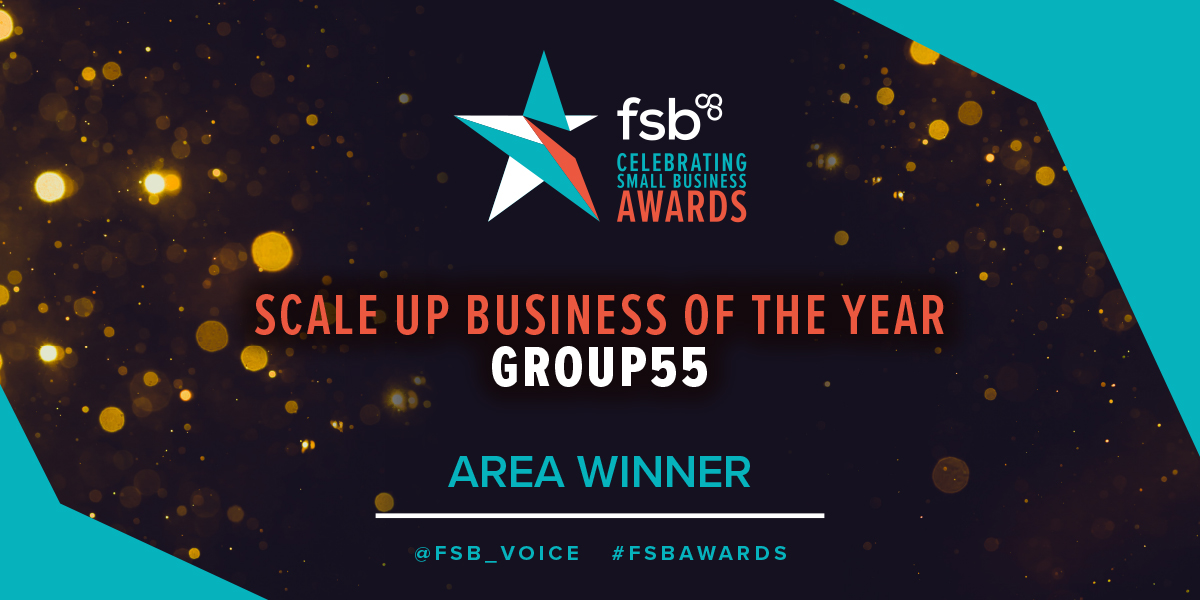 Group55 Win Scale-Up Business of the Year at the FSB Awards!