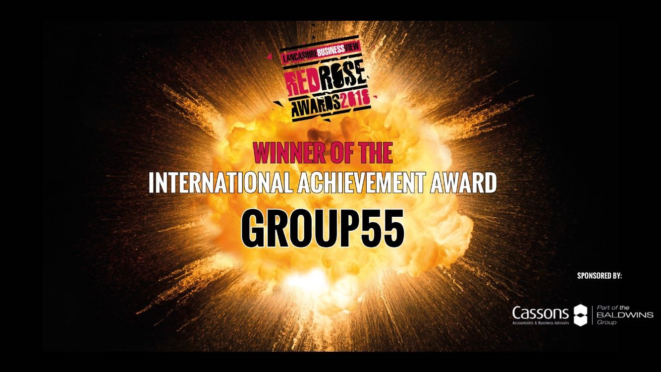 Group55 win International Achievement Award